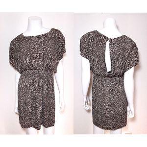 Sweet Storm Brown Leopard Print Open Back Dress